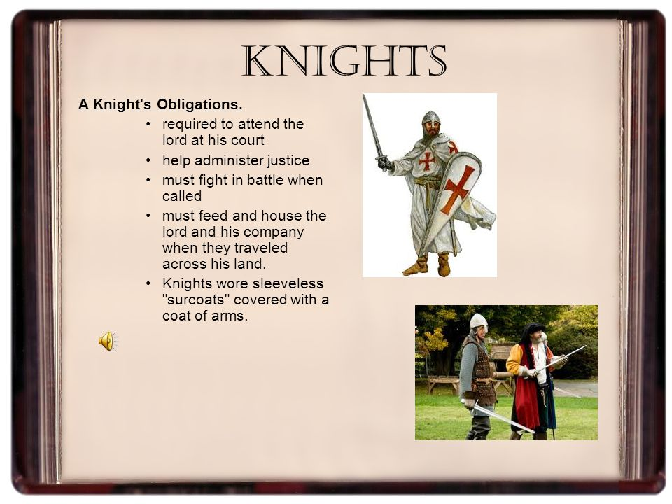Knights A Knight s Obligations.