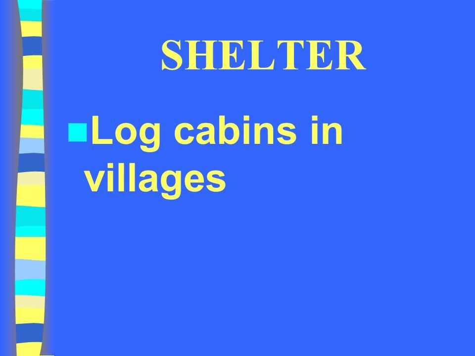 SHELTER Log cabins in villages