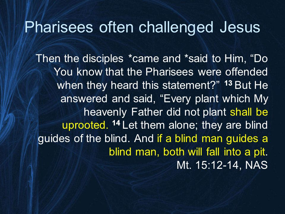 Who are the real Pharisees today.