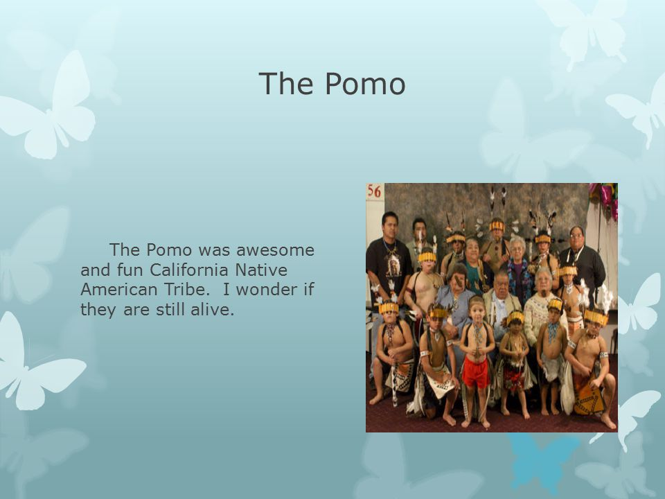 The Pomo The Pomo was awesome and fun California Native American Tribe.