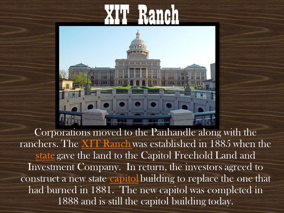Over time, the XIT Ranch became one of the largest and most famous ranches in Texas.