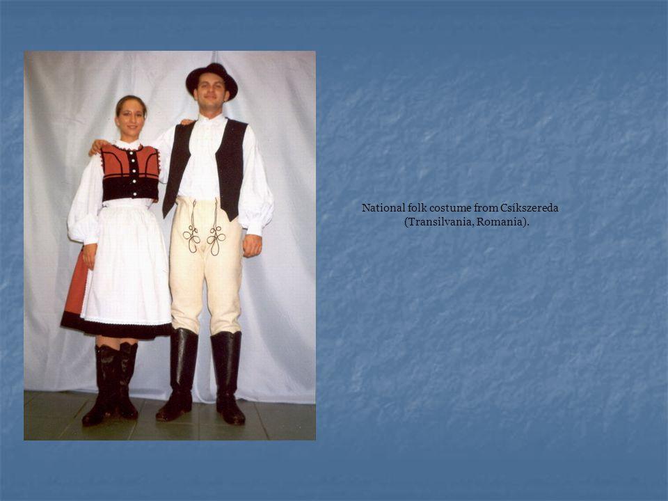 National folk costume from Csíkszereda (Transilvania, Romania).