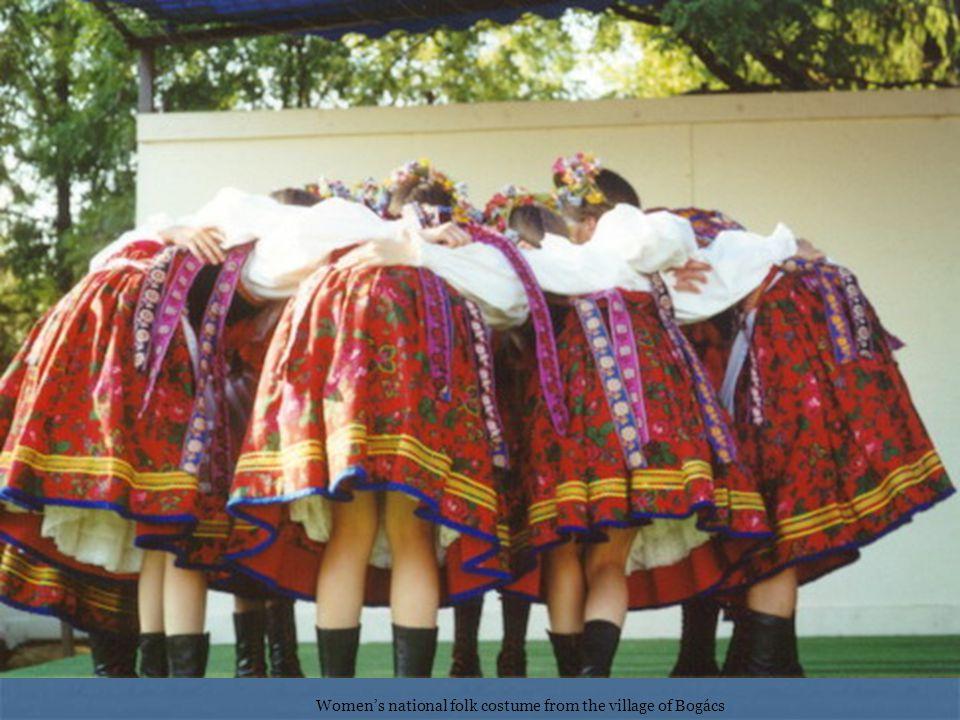 Women's national folk costume from the village of Bogács