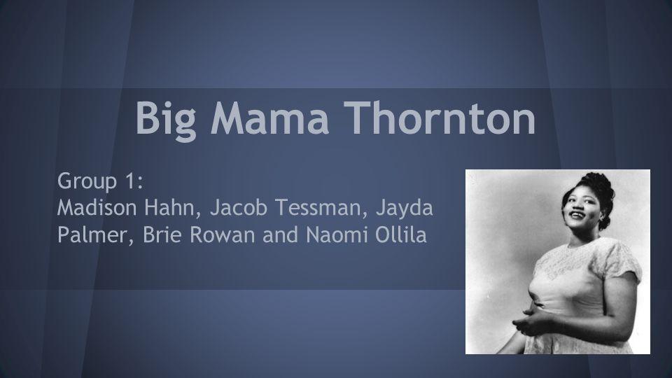 Big Mama Thornton Group 1: Madison Hahn, Jacob Tessman, Jayda Palmer, Brie Rowan and Naomi Ollila