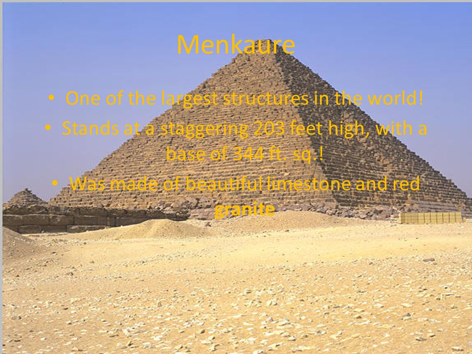 The Pyramids By: Michael Sydnes How tall are they.
