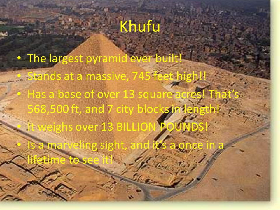 Pyramid Khafre Khafre is even taller than pyramid Menkaure.