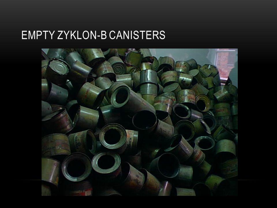 EMPTY ZYKLON-B CANISTERS