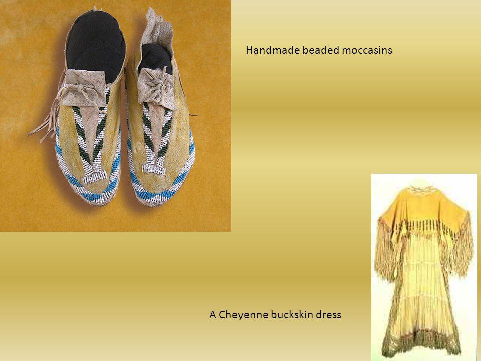 Handmade beaded moccasins A Cheyenne buckskin dress