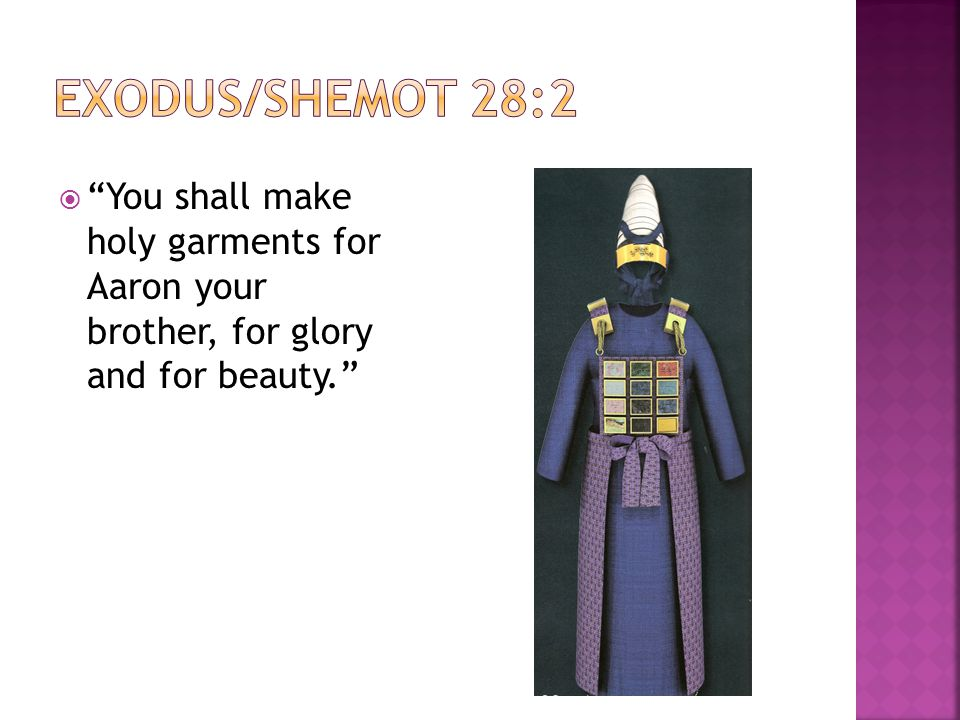 Shemot/Exodus 27:20 – 30:10 Garments of the High Priest