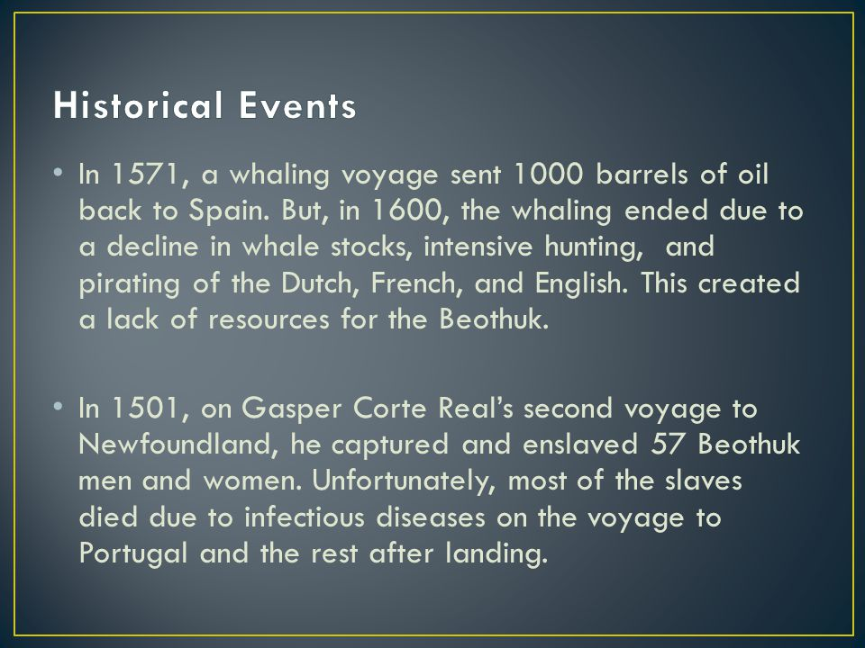 In 1571, a whaling voyage sent 1000 barrels of oil back to Spain.
