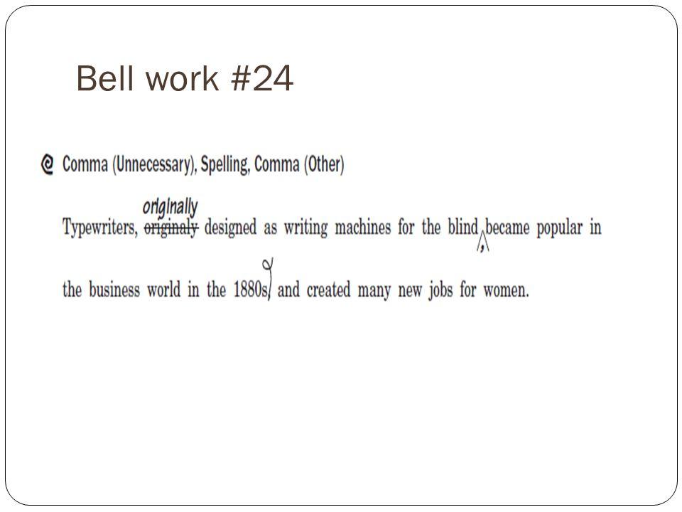 Bell work #24