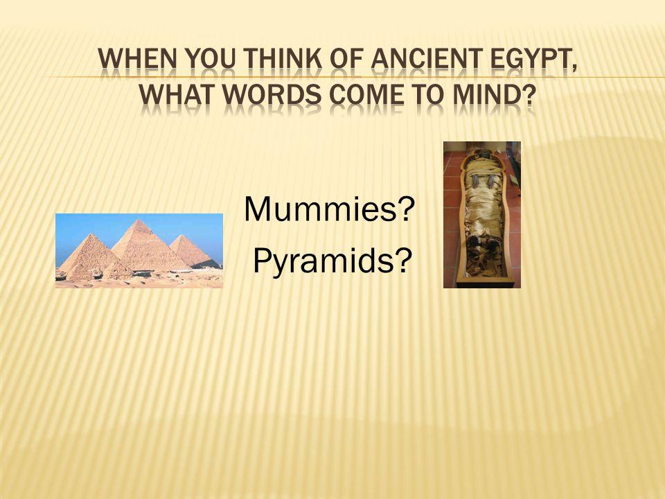 Mummies? Pyramids?