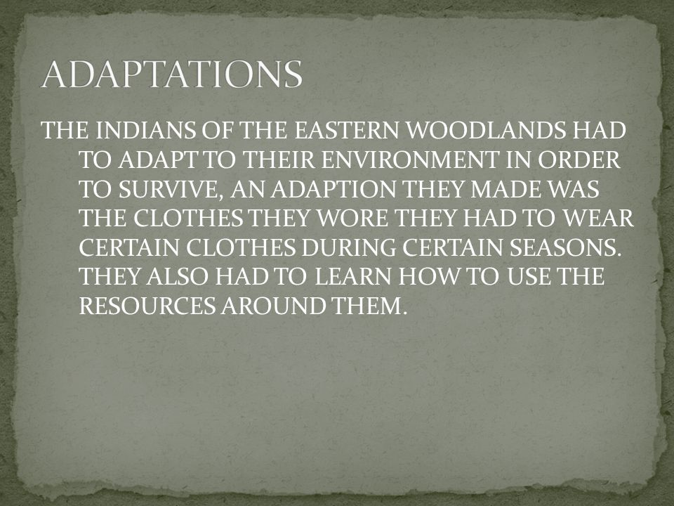 THE EASTERN WOODLAND INDIAN TRIBES LIVED IN LONG HOUSES AND WIGWAMS.