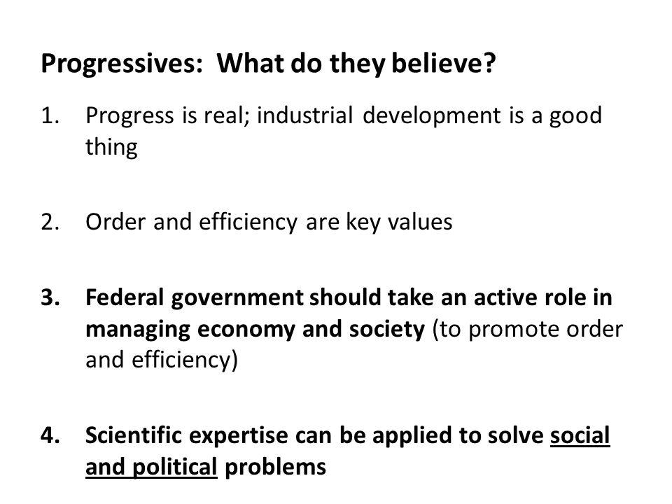Progressives: What do they believe.