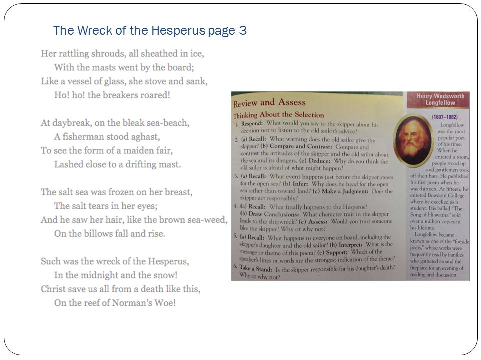 The Wreck of the Hesperus page 3