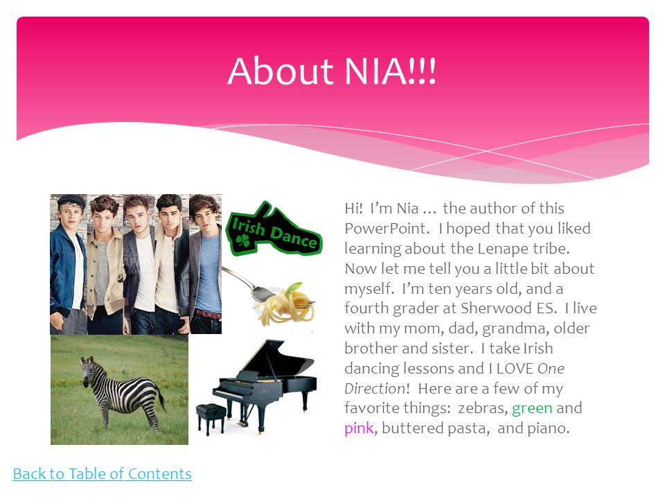 About NIA!!. Hi. I'm Nia … the author of this PowerPoint.