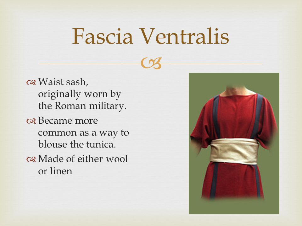   Greek style of dress popular throughout the empire  Gathered below the bust line using a cord or fabric tie.