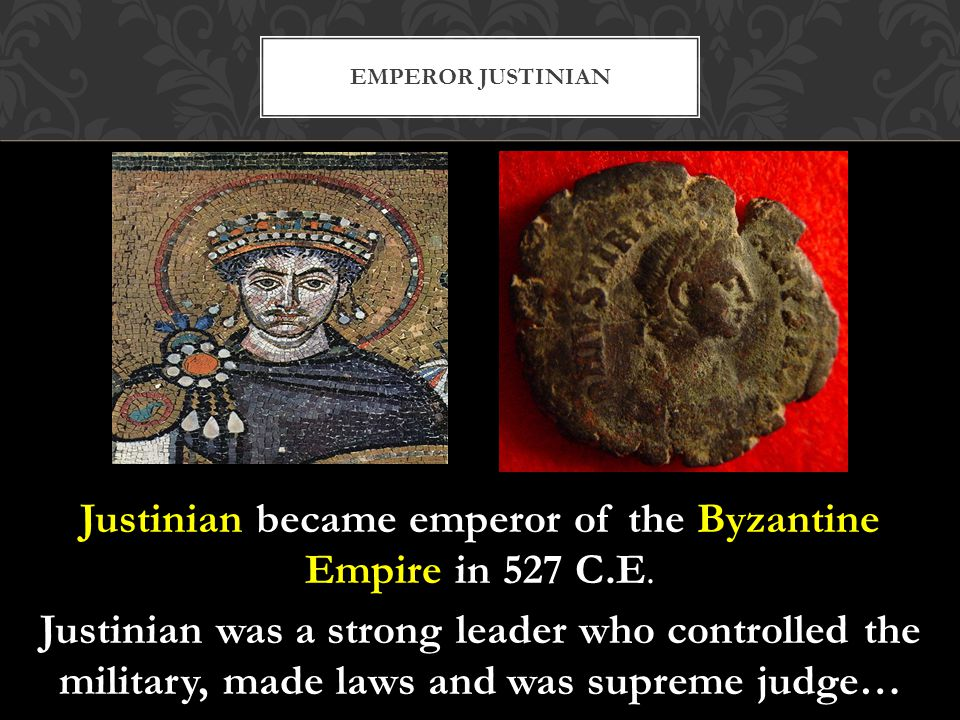However, Justinian conquered too much land, too quickly and they were just unable to control all of the new territory.