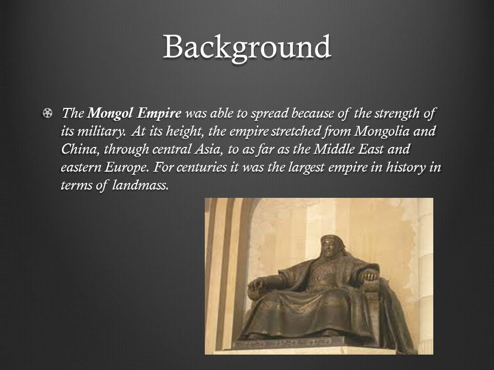 Mongol Rule The Mongols were the first foreign people to rule all of China.