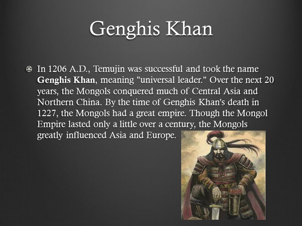 Trade Con't Kublai Khan encouraged trade with foreign countries and even worked to improve roads.