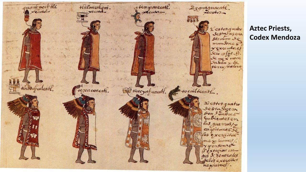 Aztec Priests, Codex Mendoza