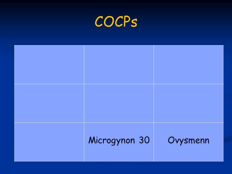 COCPs Microgynon 30Ovysmenn