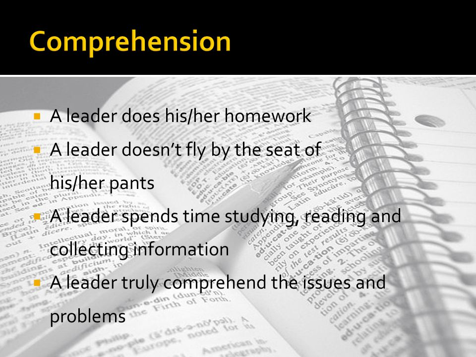 ComprehensionComprehension