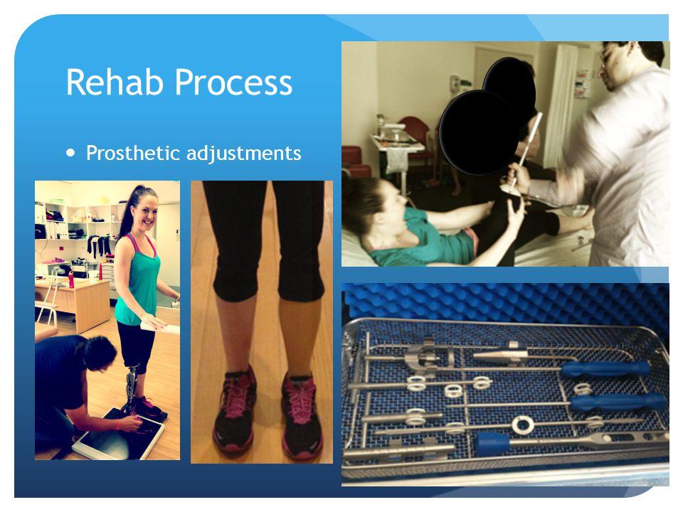 Rehab Process Prosthetic adjustments