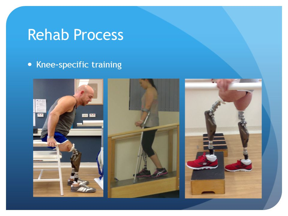 Rehab Process Knee-specific training