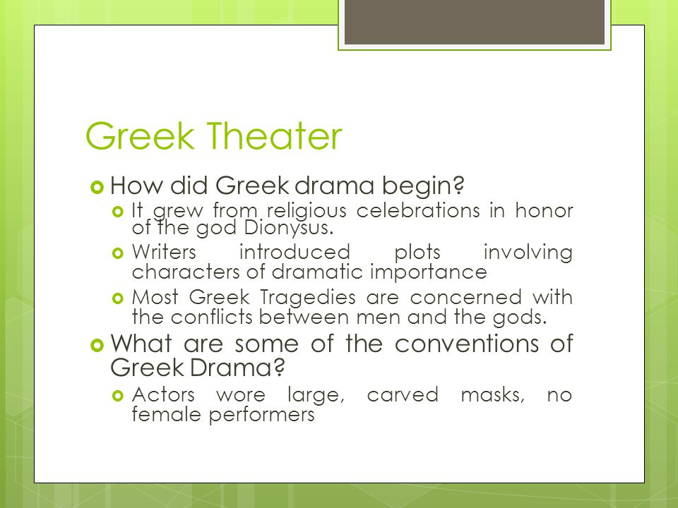 Greek Theater and Tragedy Aristotle & Oedipus Rex, Sophocles