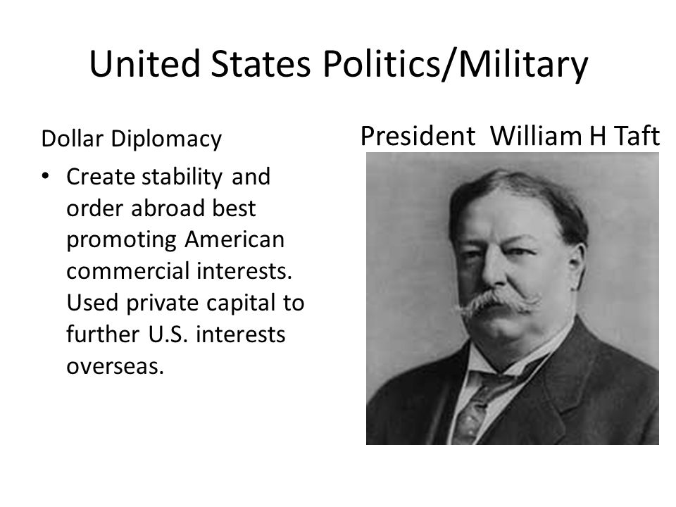 United States Politics/Military 1899-1902 Philippine/American War America gained colonial control over the Philippine islands (from Spain)