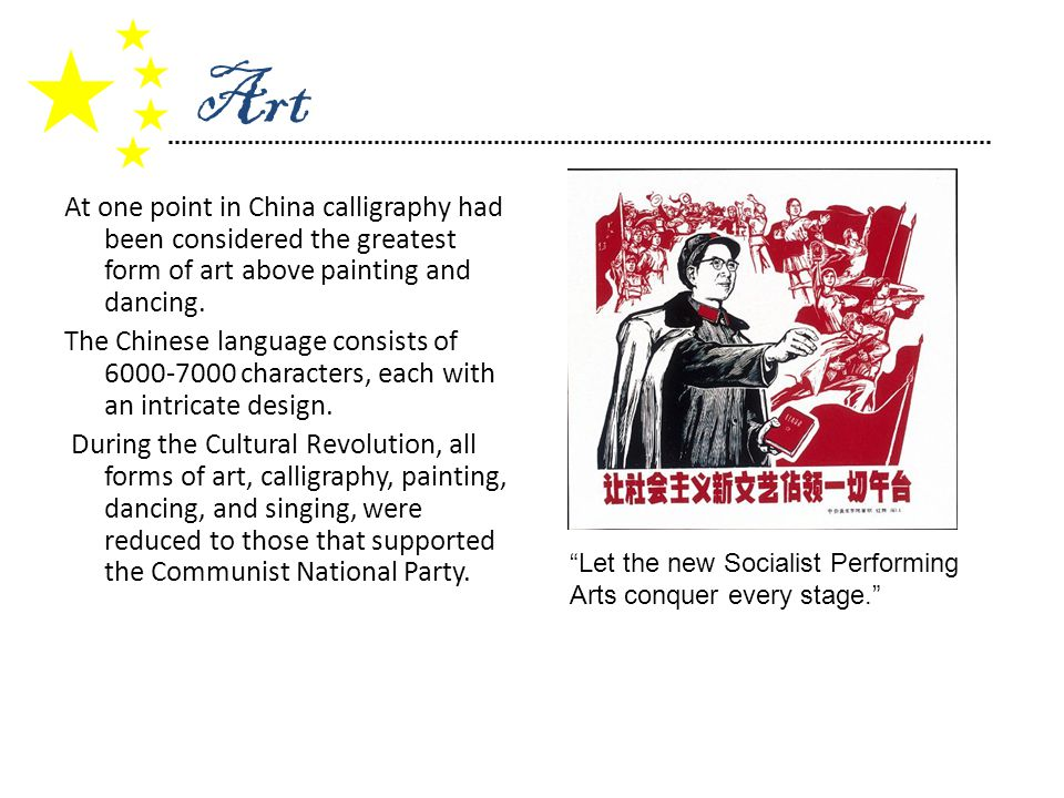 At one point in China calligraphy had been considered the greatest form of art above painting and dancing.
