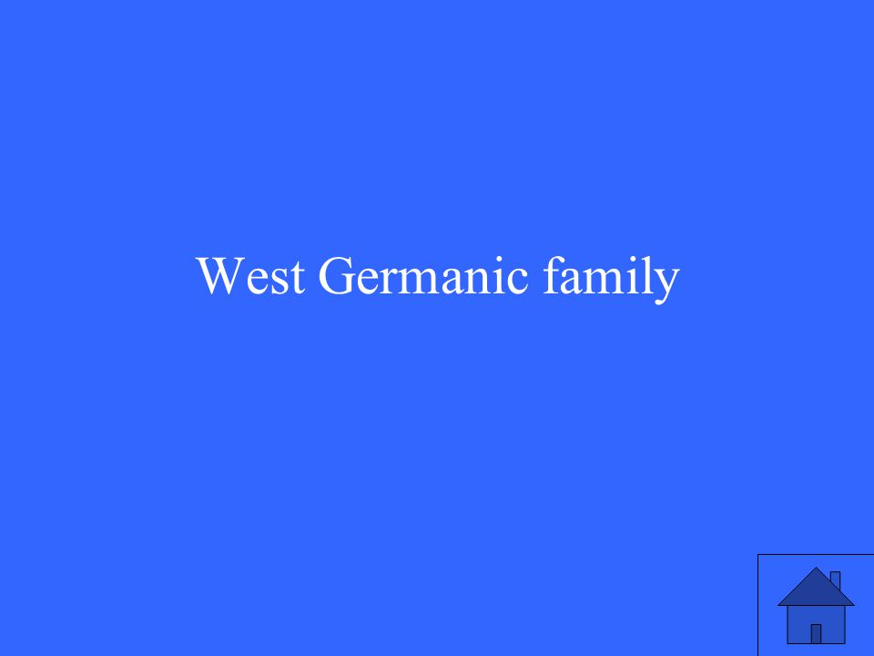 West Germanic family