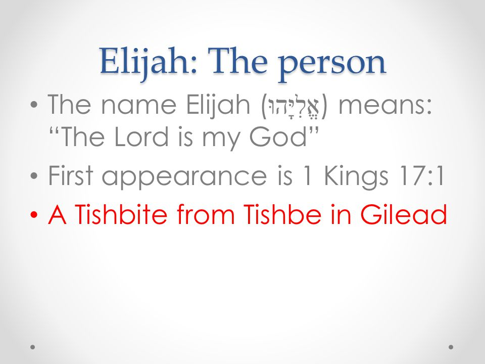 What this says about Elisha This shows 3 things: