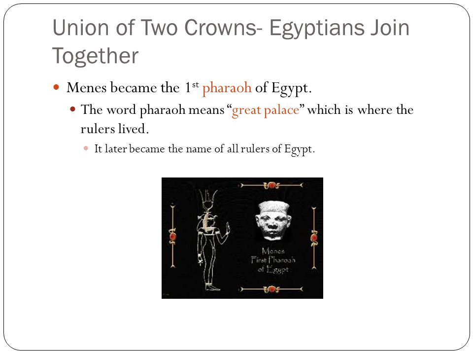 Life in the Old Kingdom Government Under the Pharaohs Religion in Egypt Egypt's Economy