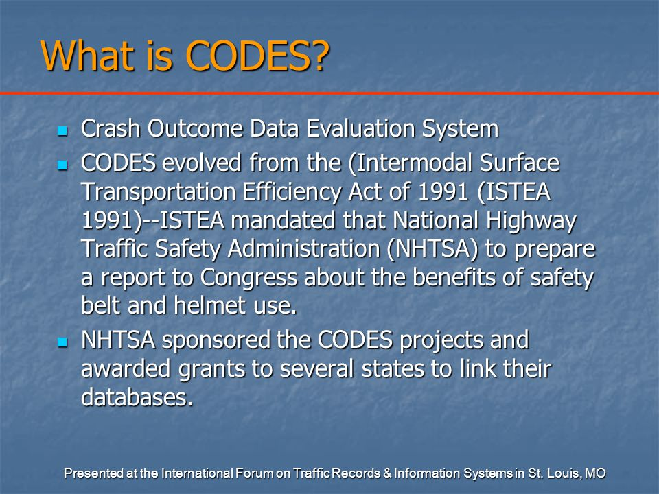 What is CODES.