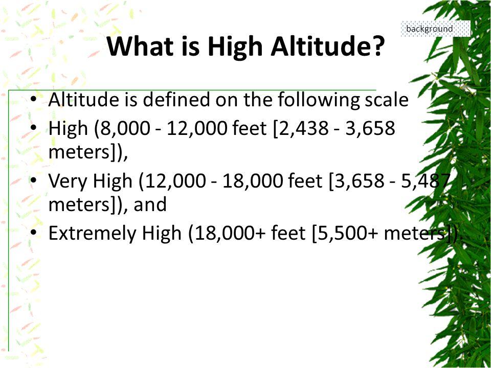 What Causes Altitude Illnesses.