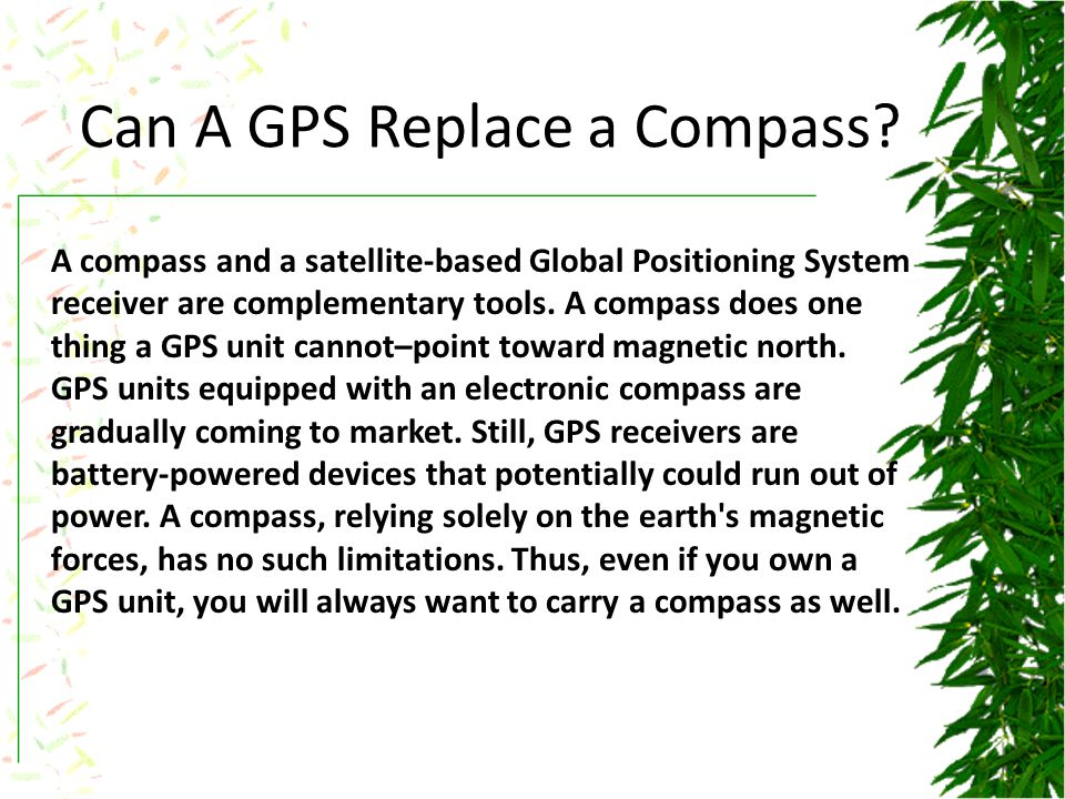 Can A GPS Replace a Compass.
