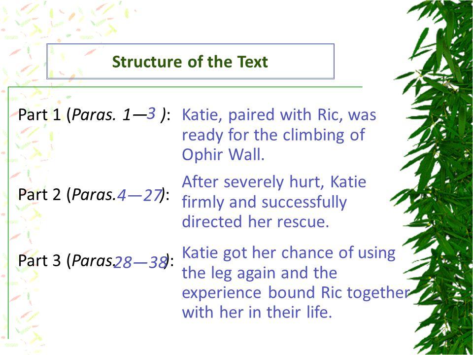 Part 1 (Paras. 1— ): Part 2 (Paras. ): Part 3 (Paras.