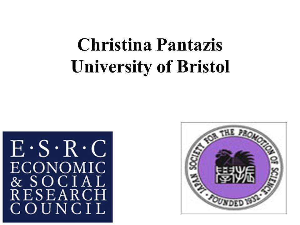 Christina Pantazis University of Bristol