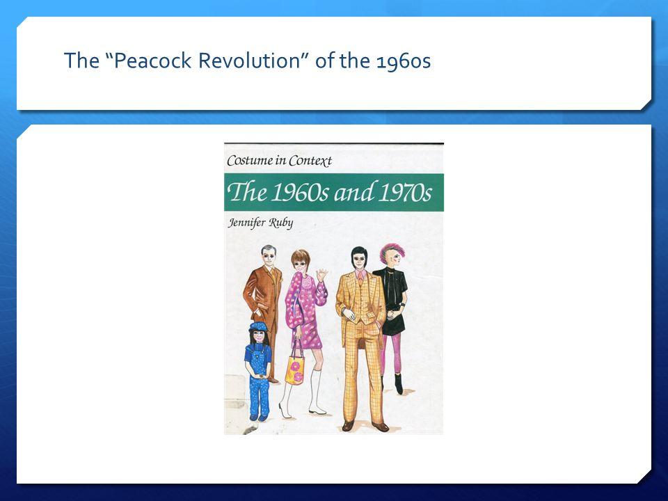 The Peacock Revolution of the 1960s