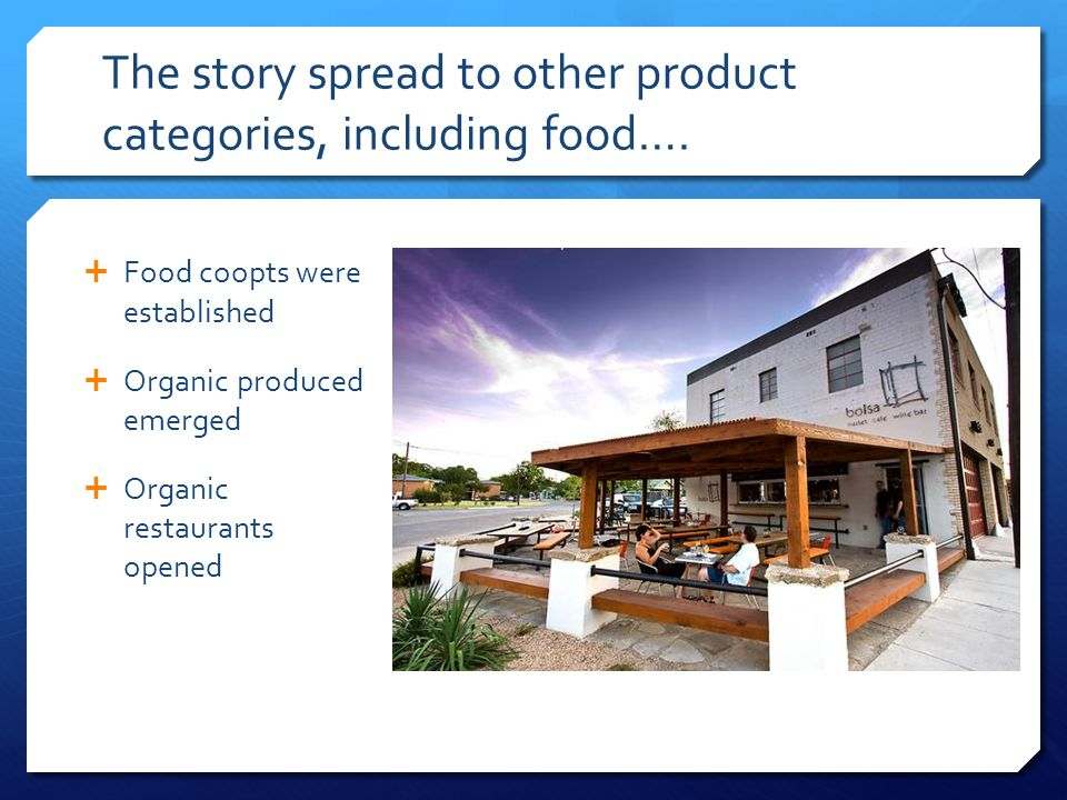 The story spread to other product categories, including food….