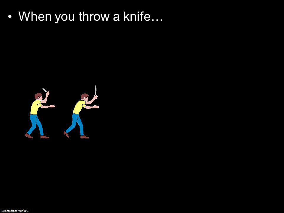 When you throw a knife…