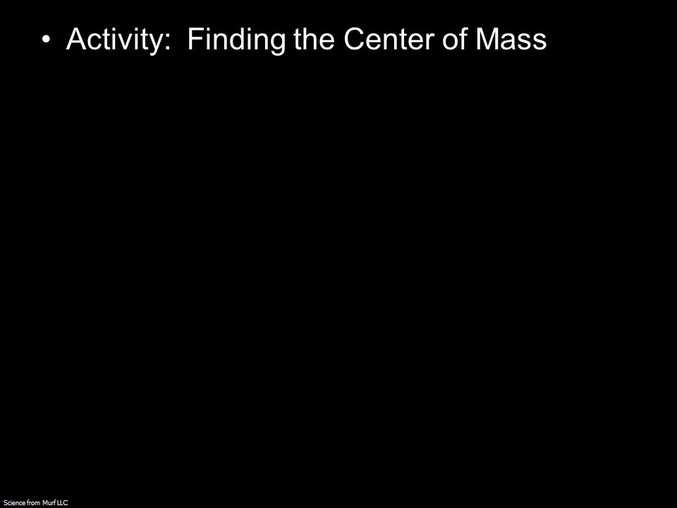 Activity: Finding the Center of Mass