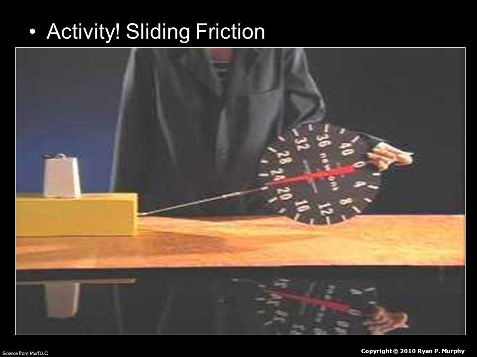 Activity! Sliding Friction Copyright © 2010 Ryan P. Murphy