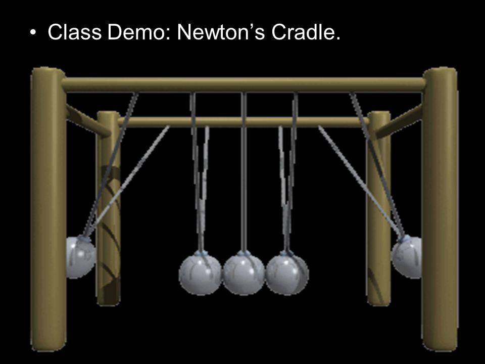 Class Demo: Newton's Cradle.