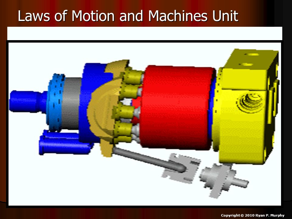 Laws of Motion and Machines Unit Copyright © 2010 Ryan P. Murphy