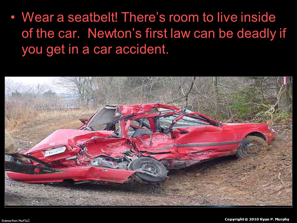 Wear a seatbelt. There's room to live inside of the car.