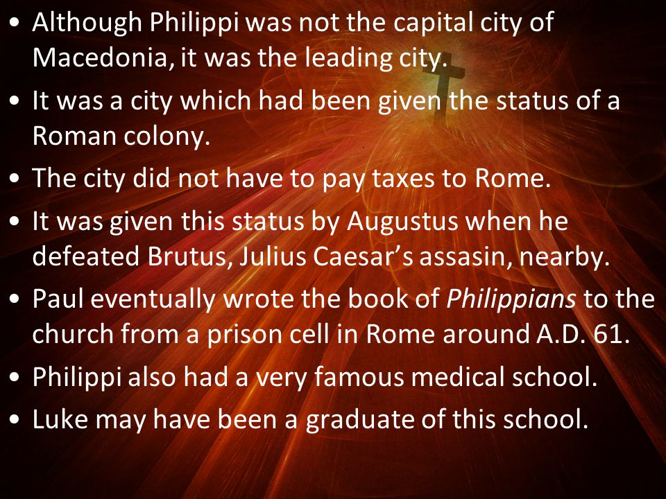 The leaders were in big trouble with the Roman government for trying and caning 2 Roman citizens without a proper trial.