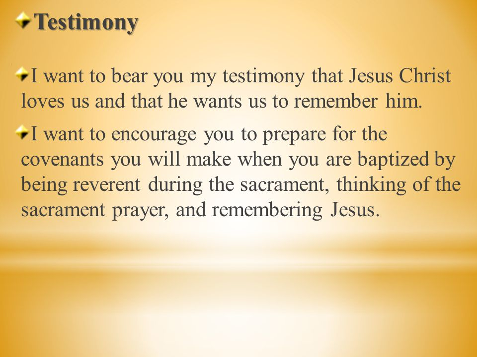 Who can remember the scripture story from last week, about Jesus Christ blessing and passing the sacrament.